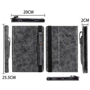 Image 3 - حافظة لجهاز iPad Pro 11 موديل 2018 مع حامل قلم رصاص ، (دعامة شحن قلم رصاص) حافظة جلدية فاخرة مزودة بحامل محفظة واقية + هدية