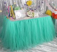 1 ярд = 91 см = 36 дюймов таблице юбка скатерть фатиновое платье-пачка на день рождения Свадебная вечеринка украшения Baby Shower подарок craft DIY польз...