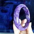 Genuine Purple dragonshard Natural Charoite Bangles For Women Round Fashion Charm Bracelet Bangles 59mm