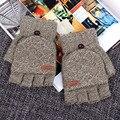 Hombres Guantes sin dedos Guantes de Invierno Manoplas Hechas Punto Calientes Guantes luvas de inverno Guantes Sin Dedos Luvas Feminina Lana Mitaines