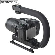 C образный держатель для видео Ручной Стабилизатор для DSLR Nikon Canon sony камера и светильник портативный SLR Steadicam для Gopro