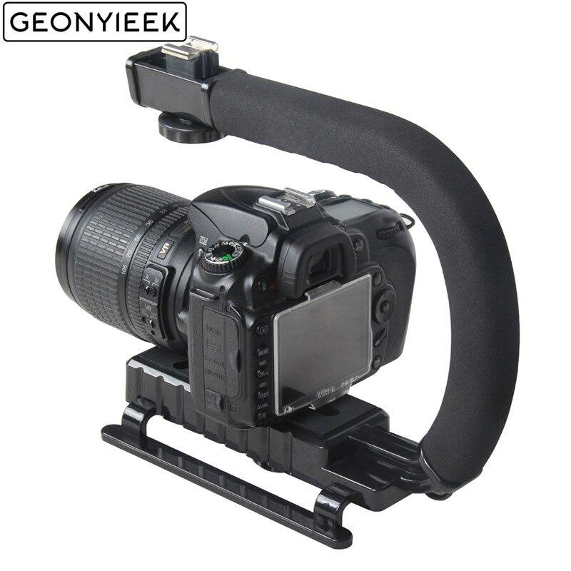 Stabilisateur de poche vidéo en forme de C pour appareil photo reflex numérique Nikon Canon Sony et appareil photo reflex Portable léger pour Gopro