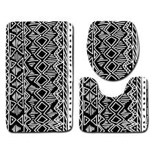 hot deal buy 3pcs bathroom mat set geometric bath mat non slip shower mat microfiber toilet mat sets bathroom products