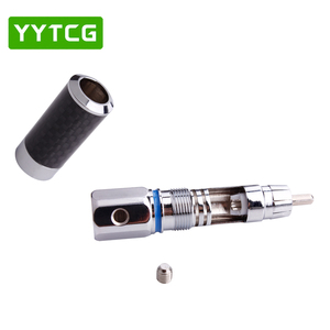 Image 5 - YYTCG 2PCS Audiophile Eutectic คาร์บอนไฟเบอร์โรเดียมชุบลำโพง RCA ชายปลั๊กสายไฟ Splice Audio Jack