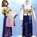 High Quality Custom Made Classic Kimono Yuna Cosplay Costume from Final Fantasy X Christmas Holloween Plus Size (S-6XL)