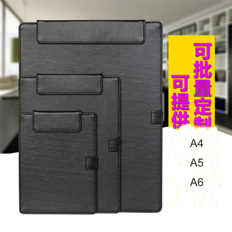 A4 A5 A6 PU Leather Hotel Restaurant Menu Clipboard Folder With Clip Desk Set Office Stationery Organizer Cash Bill Folder 1098