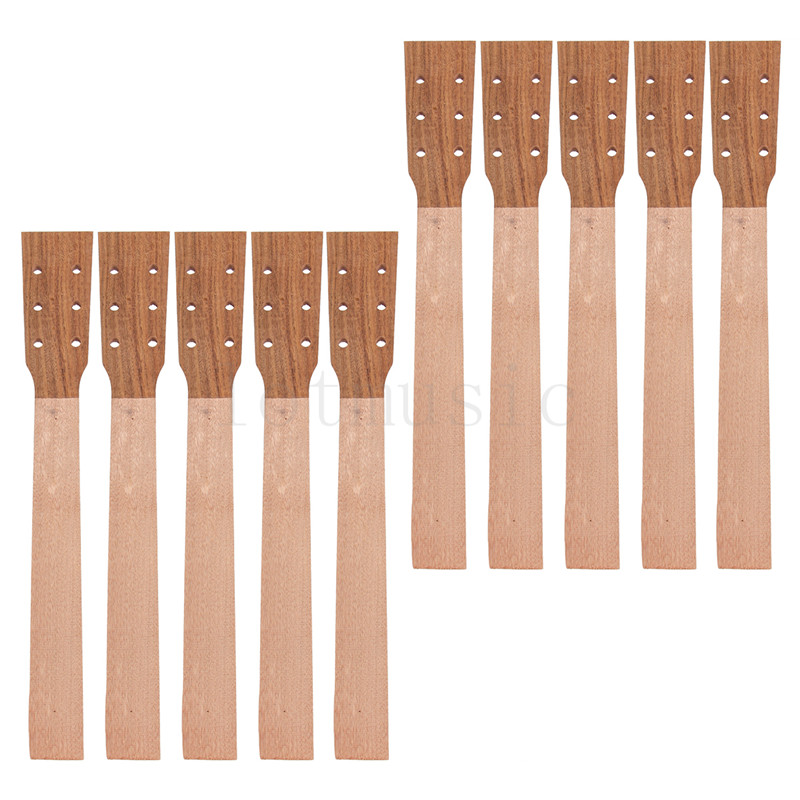 Acoustic Guitar Neck for Guitar Parts Replacement Luthier Repair Diy Unfinished Acacia Head Veneer Pack of 10 soprano ukulele neck for 21 inch ukelele uke hawaii guitar parts luthier diy sapele veneer pack of 5