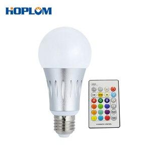 Image 1 - E27 15W zmiana koloru żarówka led lampa zdalnie sterowana RGB + biała + WW + CW + noc