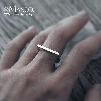 E Manco 925 Sterling Silber Ringe Silber Farbe Hochzeit Ringe Fur