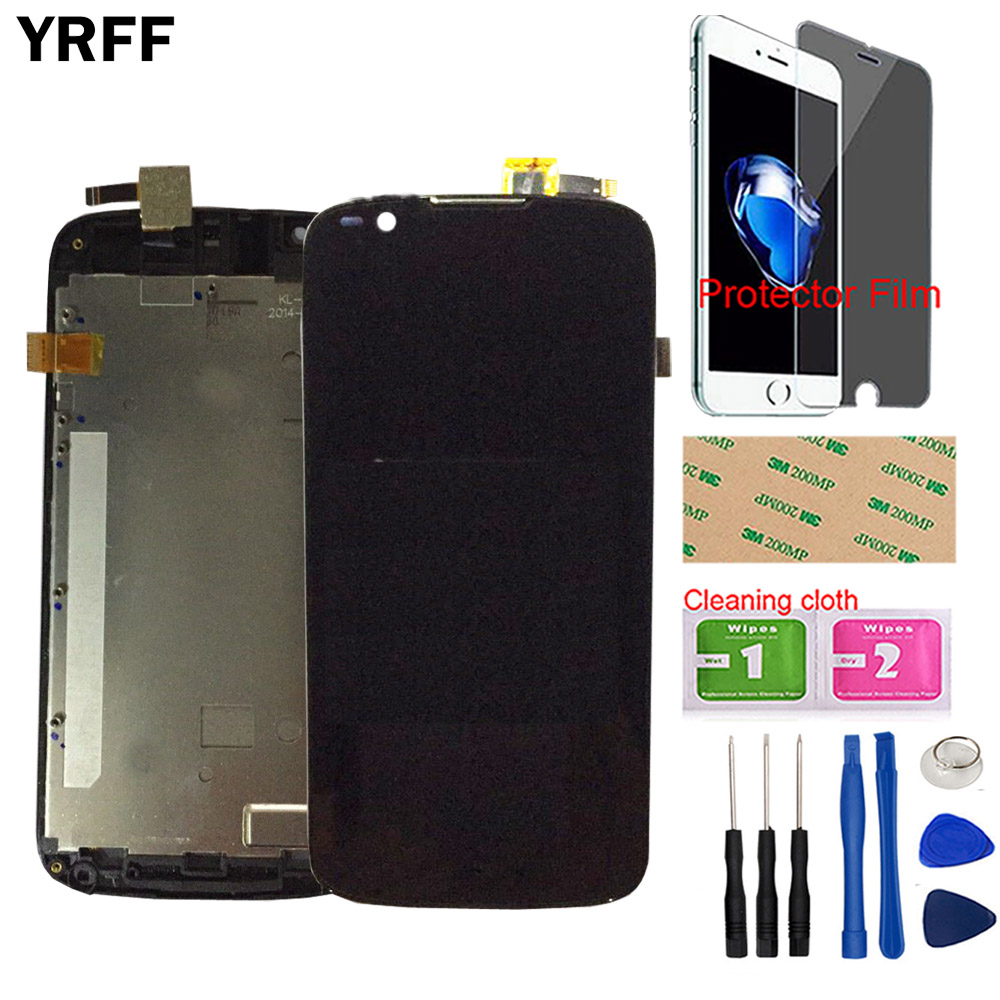 Mobile LCD Display For Fly IQ4413 LCD Display Touch Screen Glass Panel Digitizer Sensor Front Glass Tools + Protector Film
