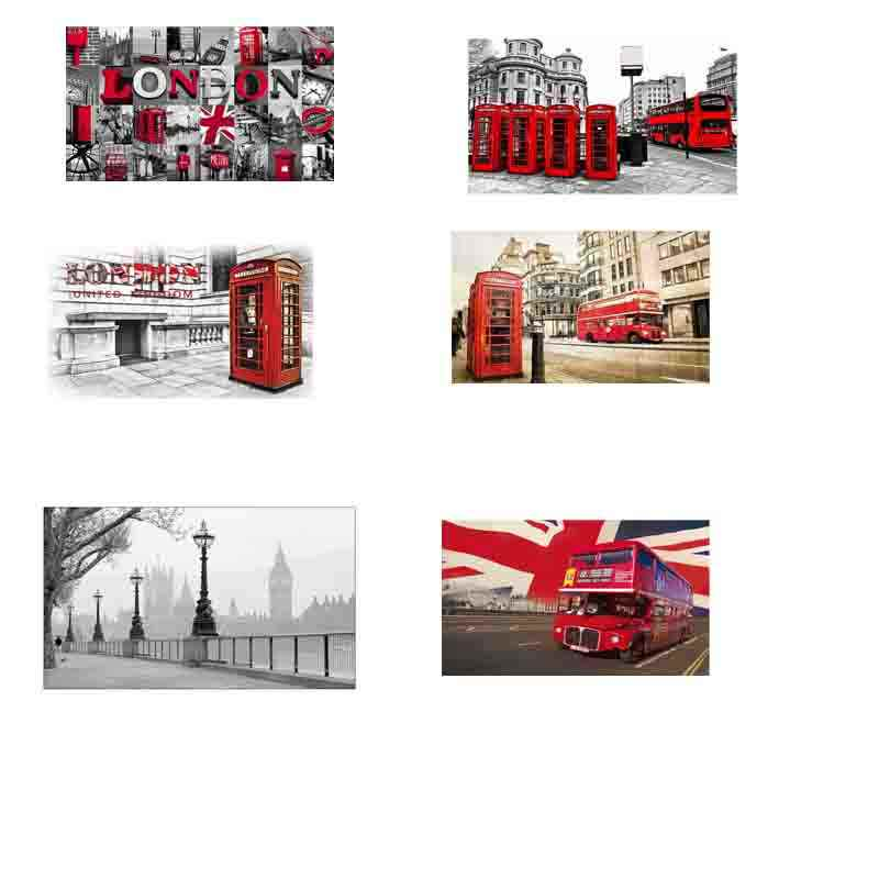 London Red bus 5D DIY diamond embroidery Red Telephone Booth Pictures diamond painting Cross Stitch full Rhinestone mosaic Arts