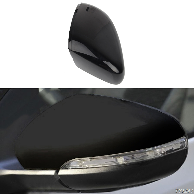 Driver Side Replacement Glossy Black Rear View Mirror