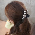 Women Girl Hairpin Edge Clip Camellia Pearl Gripper Clip high Quality hair accessory hair accessory For Women