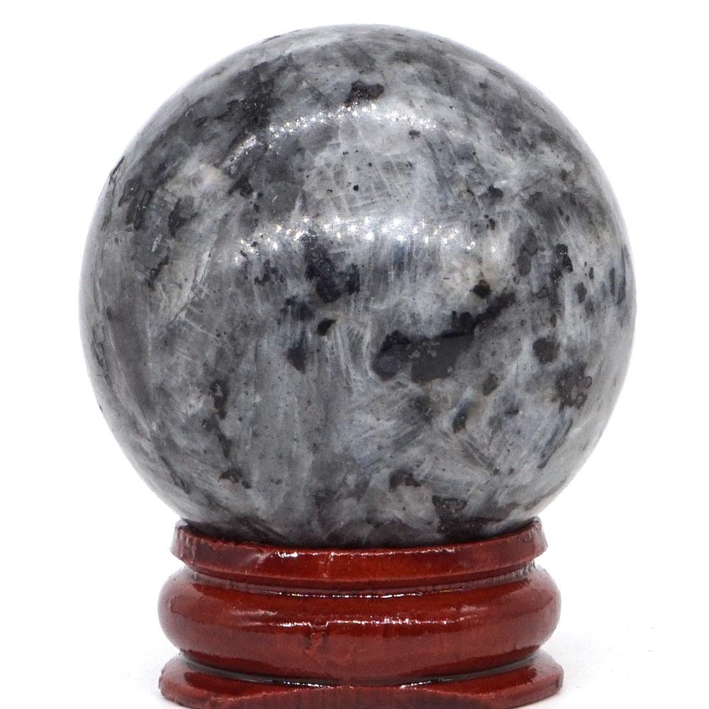 "2/"" Larvikite Labradorite Stone Skull Carved Crystal Healing Home Decor"