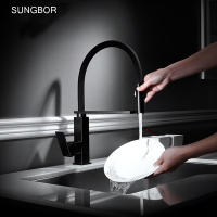New Black Pull Down Kitchen Faucet Square Brass Kitchen Mixer Sink Faucet Mixer Kitchen Faucets Pull