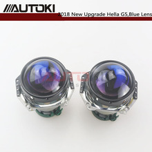 AUTOKI Upgrade 3,0 ''HID биксенон для Hella G5 алюминиевый проектор синий пленочный объектив Авто фара Модифицированная D1S D2S D3S