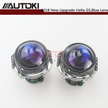цены AUTOKI Upgrade 3.0'' HID Bixenon For Hella G5 Aluminum Projector Blue Film Lens Auto Car Headlight Headlamp Retrofit D1S D2S D3S