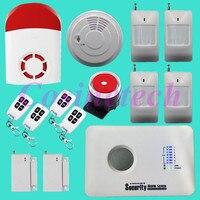 Новые 3G сигнализация, WCDMA аварийная система, GSM SMS дома охранной сигнализации с фонарями Siren, пожарной сигнализации, извещатель, дверной конта