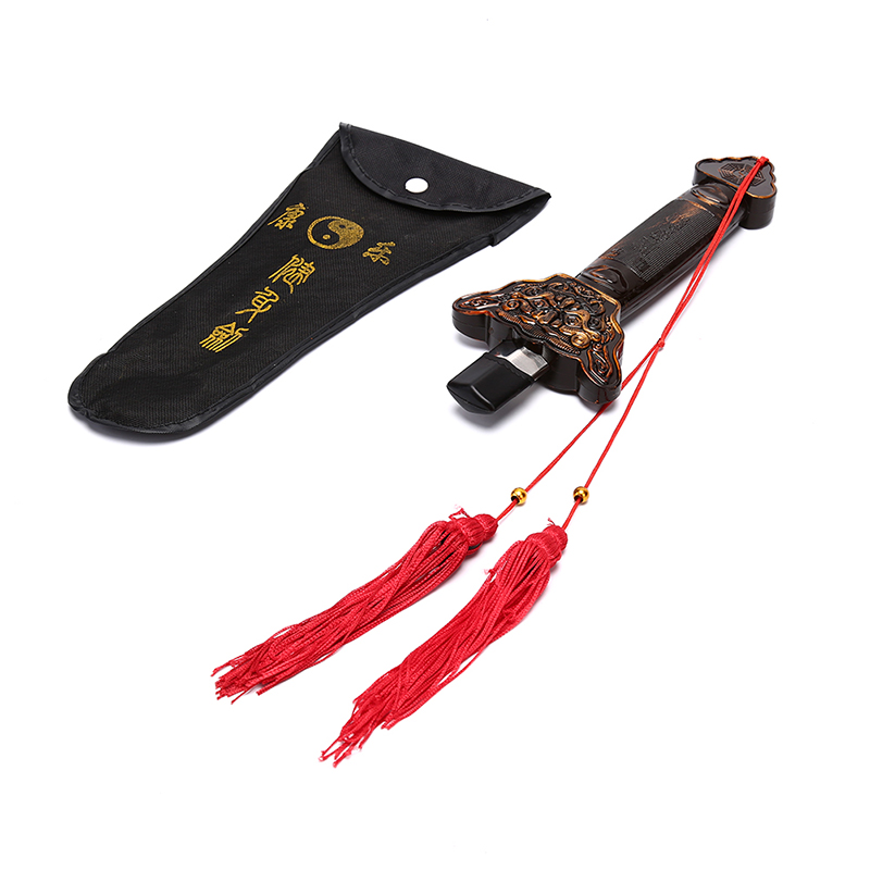 Caliente al aire libre Tai Chi Kung Fu extensión espada de acero inoxidable telescópico Longquan espada sin borde 87,5 CM Trajes chinos tradicionales traje chaqueta Wu Shu Tai Chi Shaolin Kung Fu Wing Chun camisa de manga larga
