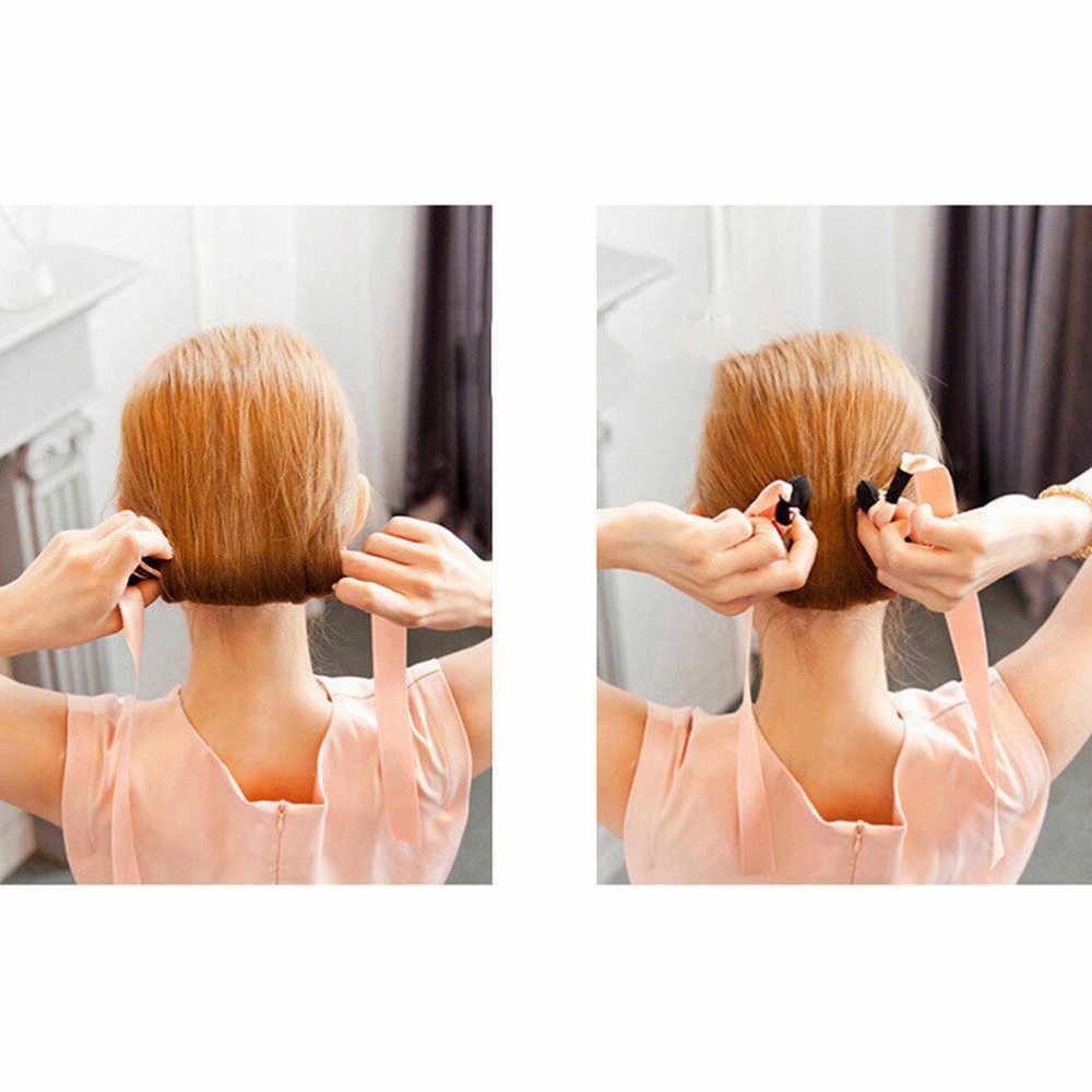 Mode Magie Haar Tools Schuim Spons Zijde Hoofdband Apparaat Quick Messy Donut Bun Kapsel Meisje Vrouwen Hair Bows Accessoires