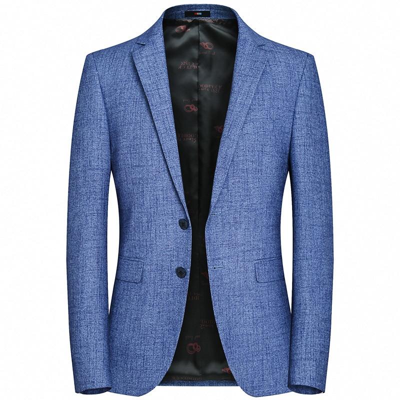 GustOmerD 2019 New Men's Suit Jacket Casual Autumn Slim Suit Fashion Solid Color Two Button Suit Jacket Men
