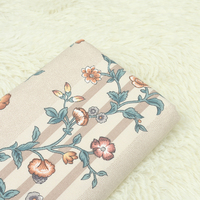 1 Meter Export Canvas Coarse Fabric With European Big Floral Handmade Bag Sofa Pillow Base Cushion