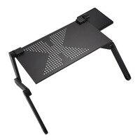 ポータブル折りたたみ調節可能なノートパソコンデスクコンピュータテーブルソファベッド黒のトレイスタンド