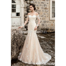 Cianlsria Wedding Dresses 2019 Long Sleeves Court Train