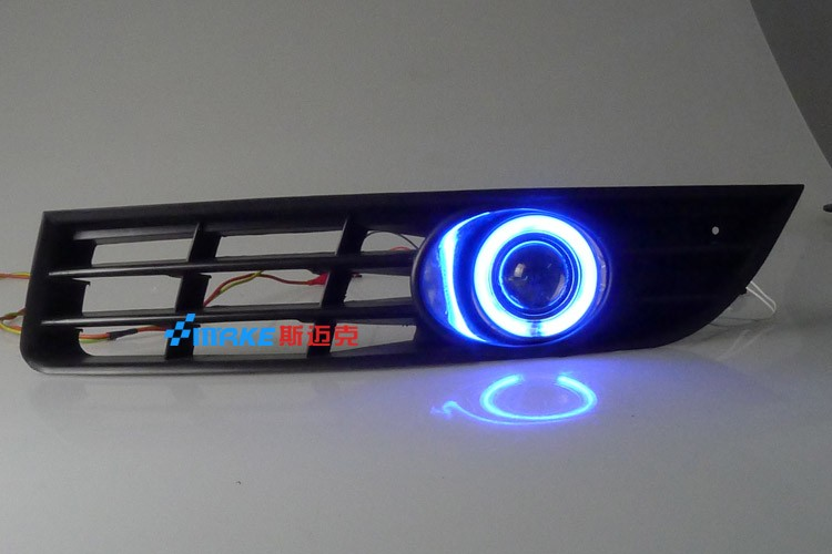 eOsuns CCFL angel eye led daytime running light DRL + halogen Fog Light + Projector Lens for volkswagen VW passat b6 3C 2006-11 eosuns ccfl angel eye led daytime running light drl fog light projector lens for nissan sylphy sentra bluebird 2007 11