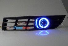EOsuns CCFL angel eye led de conducción diurna luz DRL + halógeno Luz de niebla + Lente Del Proyector para volkswagen VW passat b6 3C 2006-11
