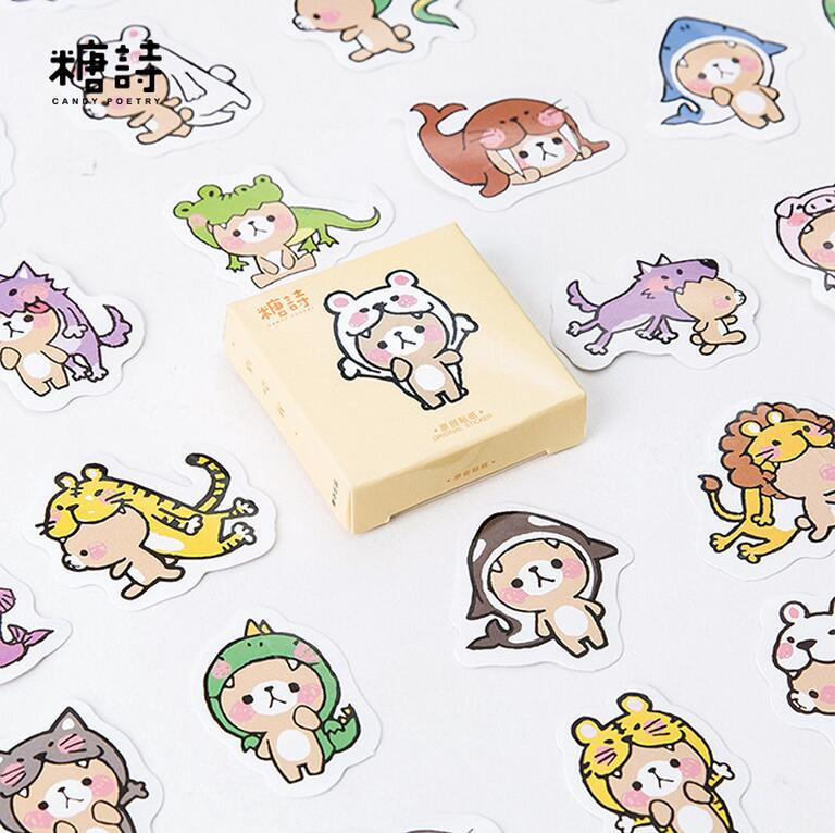 45 pcs/pack Don't Bite Me Decorative Stickers Adhesive Stickers DIY Decoration Diary Stickers cow spots decorative stair stickers