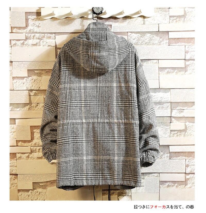 Male Long Coat Oversize Lapel Button Sobretodos Hombre Overcoat Streetwear (42)