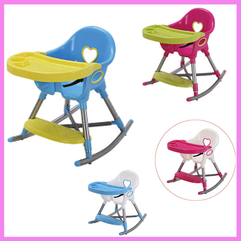 Baby Dining Highchair Portable Kids Feeding Chair Travel Folding Child Eating Table and Chair Baby Dinning Chair Safety Seat printed baby child supermarket trolley dining chair protection antibacterial safety travel portable shopping cart cushion