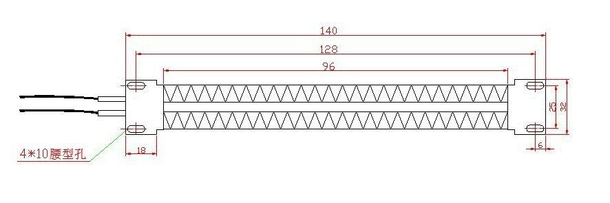 110 Вт В 250 В AC DC изолированный PTC керамический нагреватель PTC нагревательный элемент электрический нагреватель 140*32 мм