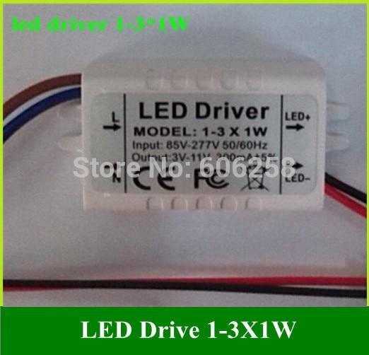 1-3*1W Ceiling Light 1W 2W 3W LED External Drive Power LED Power Driver 300MA 10pcs