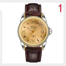 2019 новые мужские механические часы мужские часы брендовые автоматические Водонепроницаемые кожаные студенческие модные часы