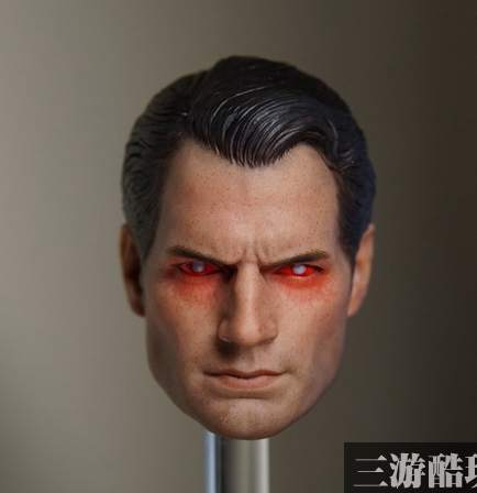 1:6 scale male Figure accessories Henry Cavill BVS superman Kal-El head shape carved in Red eyes for 12 Action figure doll 1 6 scale bvs superman 2 0 red eye head sculpt model toy for 12 male action figure body toys