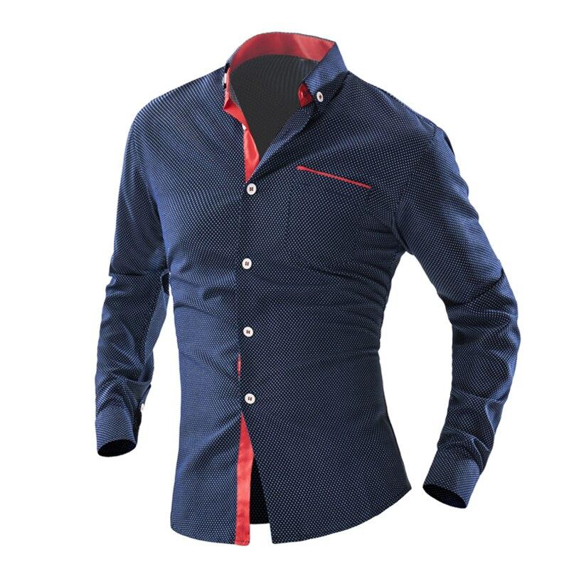 Popular mens polka dot dress shirt buy cheap mens polka for Made to measure casual shirts