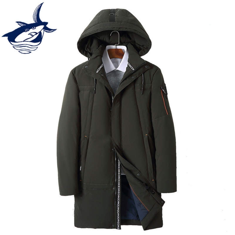 Plus Size 4XL Long Russia Winter Down Jacket Men Casual Hooded Zipper Windproof Brand Tace & Shark Mens Down Coat Snow Overcoat