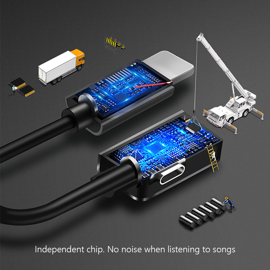3 5mm Audio Connector Splitter Charger Mobile Phone Earphone Portable 2 in 1 Adapter For IPhone 7 8 X Type USB C Jack AUX Cable in Phone Adapters Converters from Cellphones Telecommunications
