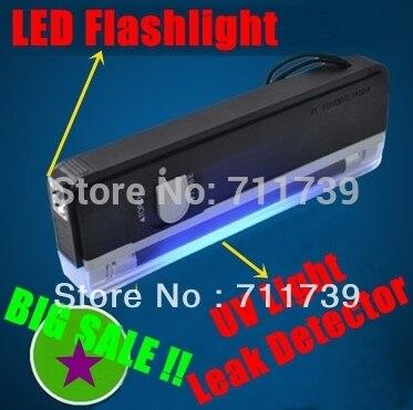 QUALITY GOODS Handheld UV Leak Detector For uv light bank note / test currency + White LED flashlight torch