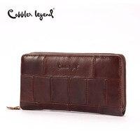 Cobbler Legend Brand Designer Casual Women Wallet Genuine Leather Long Wallet For Ladies Coin Card Purses