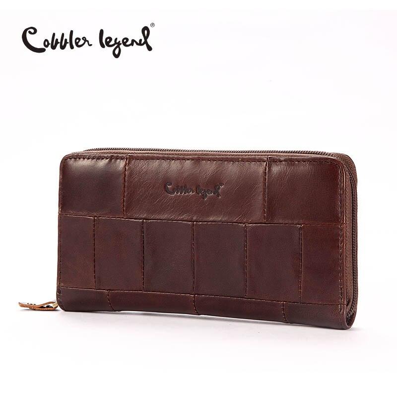 Zapatero leyenda marca diseñador ocasional mujeres Cartera de cuero genuino larga cartera para damas moneda monederos para mujer monedero