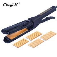 3 In 1 Curling Hair Electric Hair Straightener Crimper Fluffy Waves Hair Curlers
