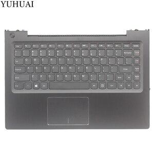 NEW US laptop keyboard For Lenovo U330p U330 US keyboard with case Palmrest Touchpad 3KLZ5TALV30 NO Backlight