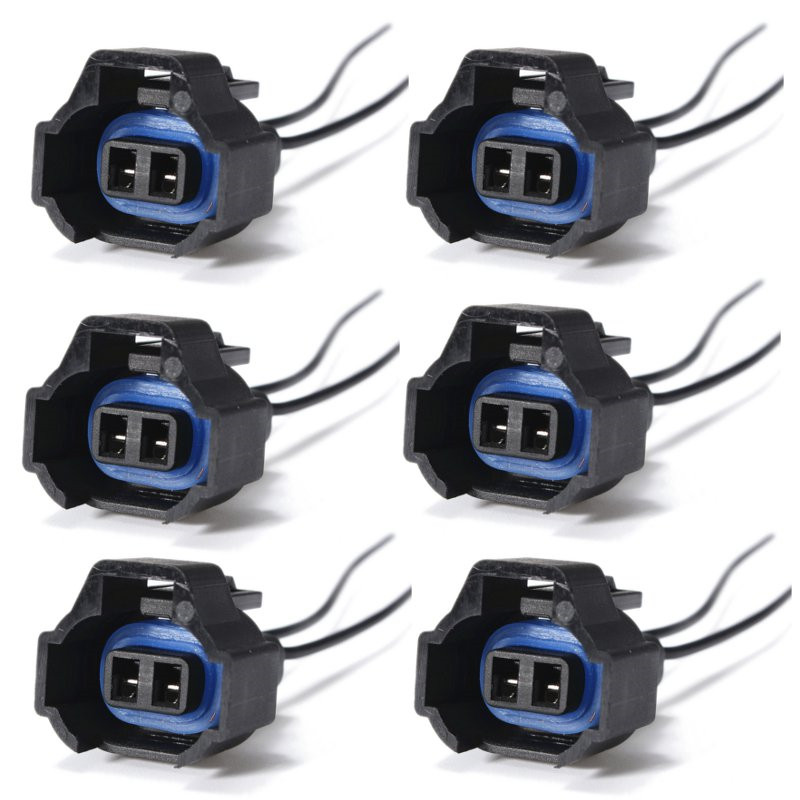 online get cheap pigtail harness connector aliexpress com 6 pcs 2 pin female wire harness fuel injector nozzle connector electrical plug clip pigtail waterproof