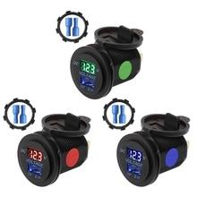 5V 2.1A Motorcycle Car Socket Voltage Display USB Charger LED Digital Panel