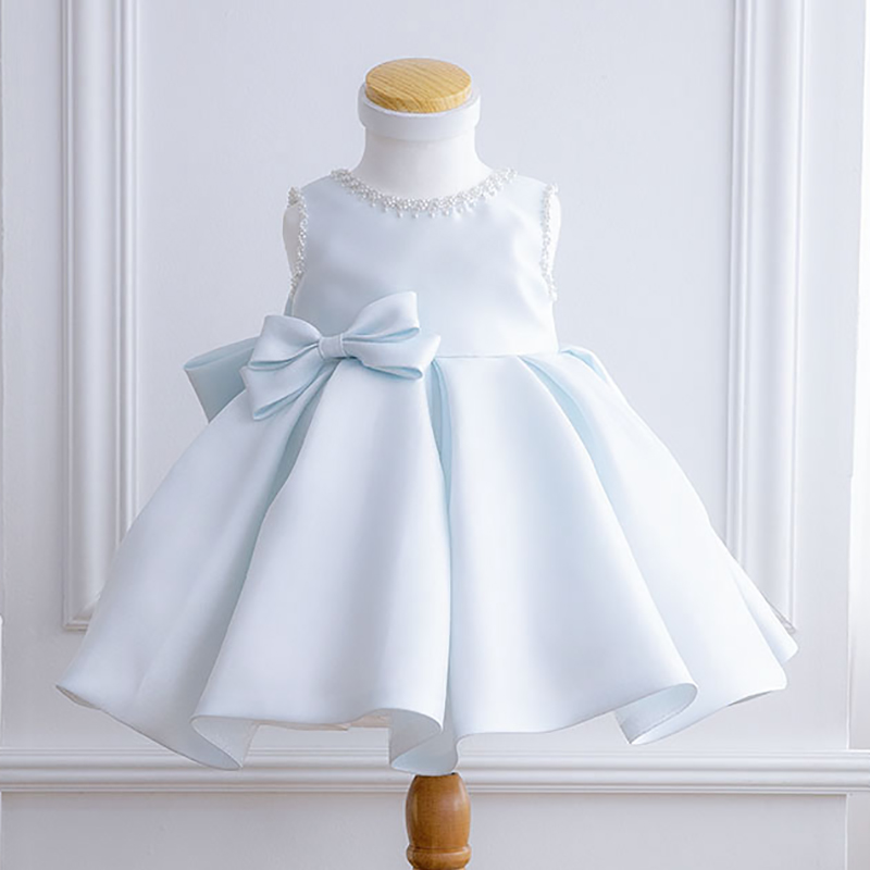 Newborn Girl Dress for Wedding Party Beaded Tulle Baby