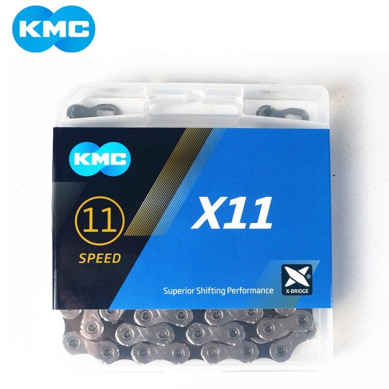 Велосипедная цепь KMC X11.93 X11 118L 11 цепь для скоростного велосипеда с оригинальной коробкой и волшебной кнопкой для горного/удочного велосипед...