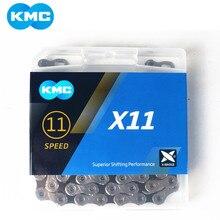 Велосипедная цепь KMC X11.93 X11 118L 11, цепь для скоростного велосипеда с оригинальной коробкой и волшебной кнопкой для горного велосипеда/удочки, детали для велосипеда